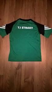 Tričko TJ Straky - zadní strana
